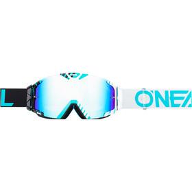 ONeal B-30 Goggle DUPLEX black/white/teal-radium
